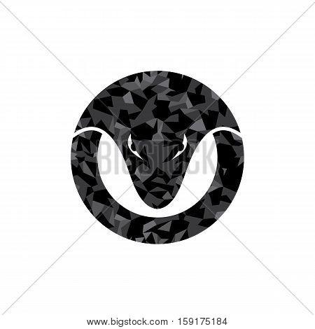 Viper Venom Snake Head Logo Logotype Circle Round Theme