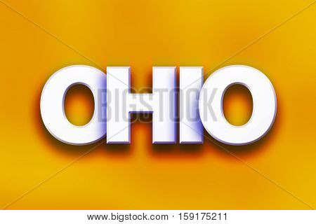 Ohio Concept Colorful Word Art