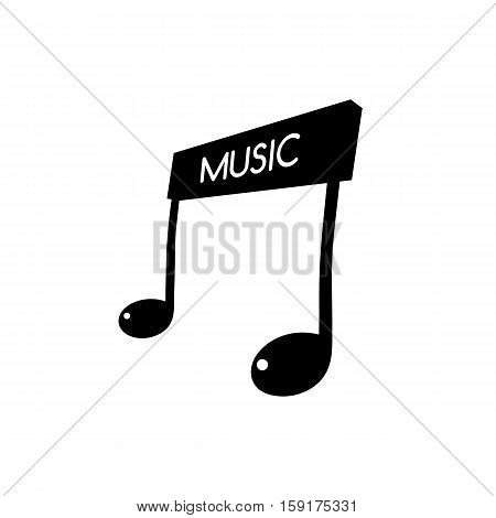 music key note orchestra song logo logotype concept