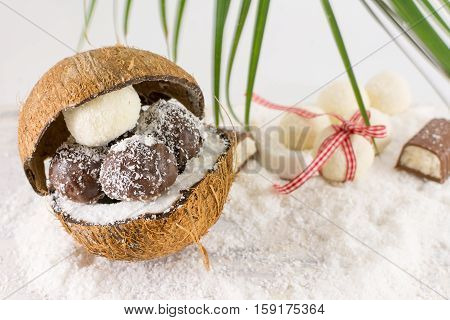 Fresh Coconut And Coconut Cookies