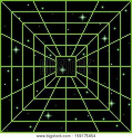Pixel Square Vortex Portal Pattern. Layered file. Each pixel is left as a vector square