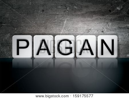 Pagan Tiled Letters Concept And Theme