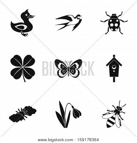 Tending garden icons set. Simple illustration of 9 tending garden vector icons for web