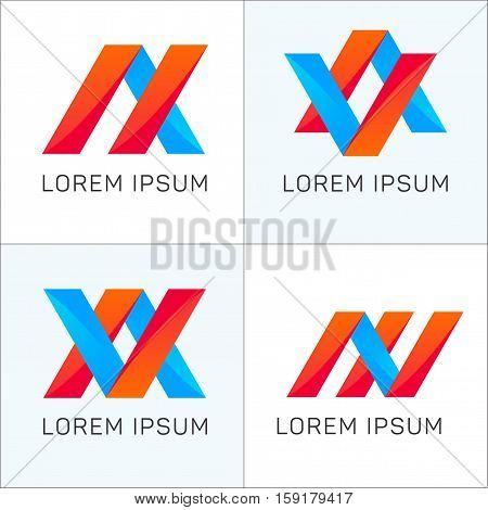 Abstract logotype elements company signs vector design