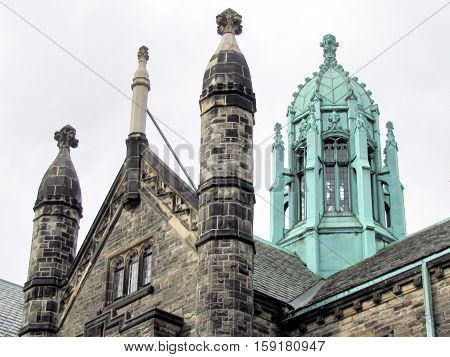 Towers of Trinity College at University of Toronto in Toronto Ontario Canada