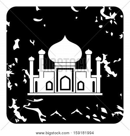 Mosque icon. Grunge illustration of mosque vector icon for web