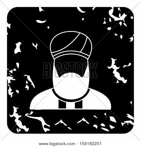Imam icon. Grunge illustration of imam vector icon for web
