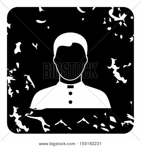 Priest icon. Grunge illustration of priest vector icon for web