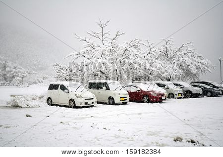 Winter At Kawaguchi-ko, Japan. First Snow In 2016.