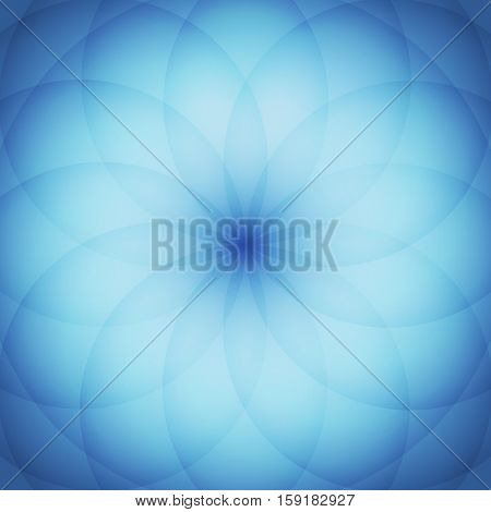 Circle elements with blue background, stock vector