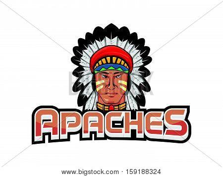 apaches banner vector illustration design eps 10