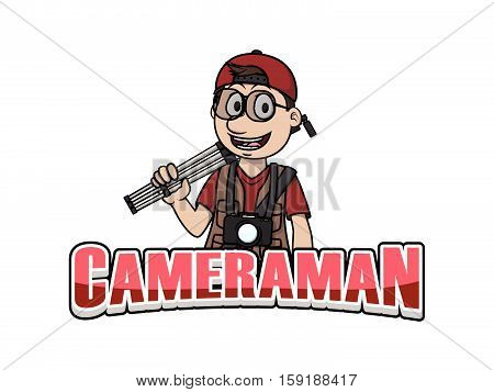 cameraman banner vector illustration design eps 10