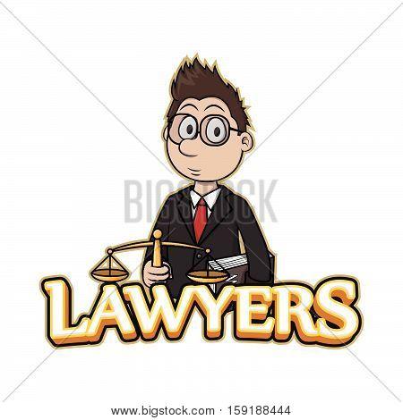 lawyers banner vector illustration design eps 10