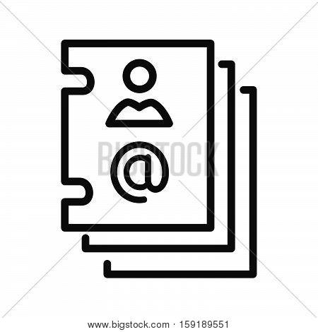 contact account vector illustration design eps 10