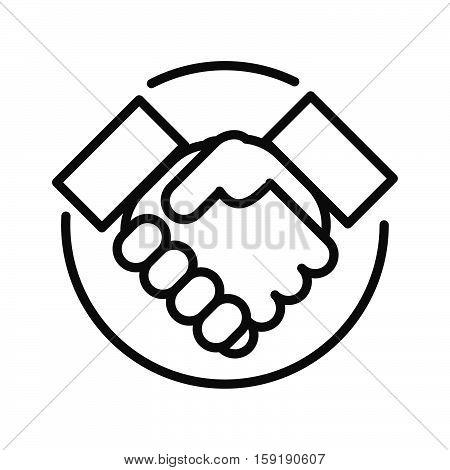 handshake aggrement vector illustration design eps 10