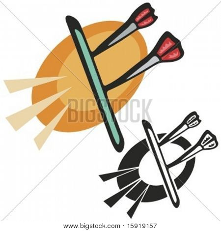Dart board. Vector illustration