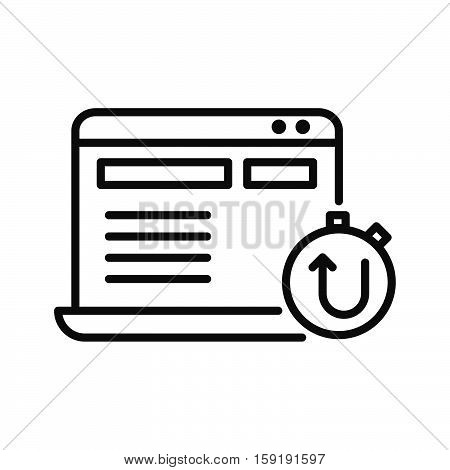 website uptime vector illustration design eps 10