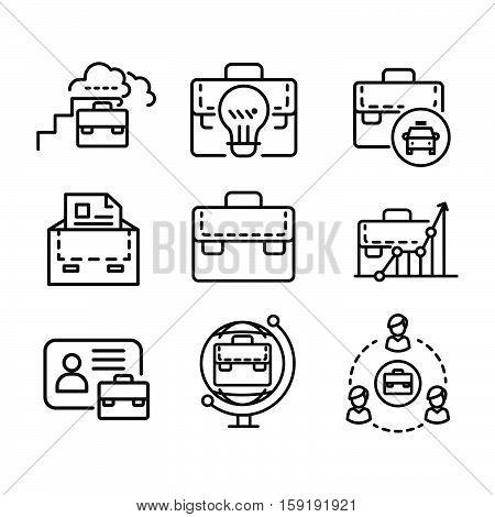 suit case icon set vector illustration design eps 10