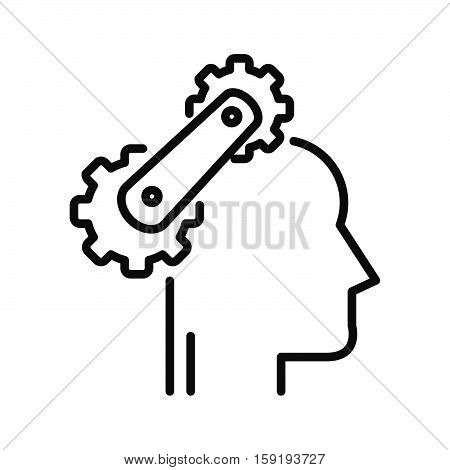 cognitive process vector illustration design eps 10