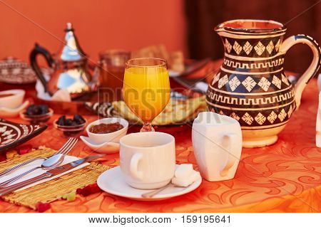 Delicious Breakfast In Moroccan Style