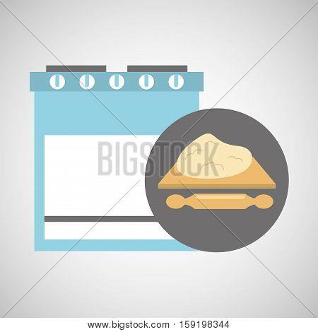 kitchen bakery concept rolling dough vector illustration eps 10