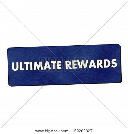 ultimate rewards white wording on blue wood background