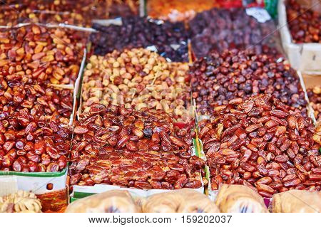 Dates On A Traditional Moroccan Market (souk) In Essaouira, Morocco