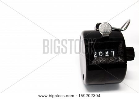 Year 2047 Counter on isolated white background