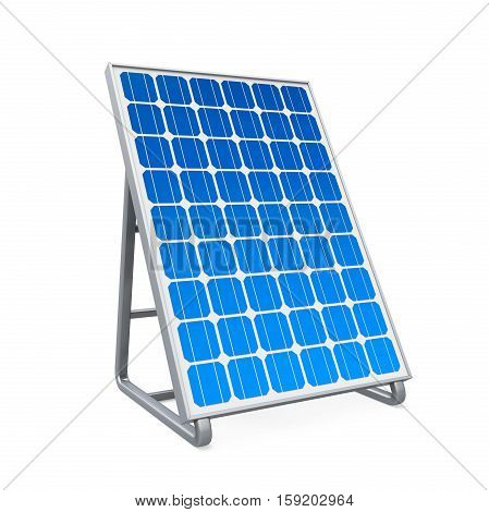Solar Panel isolated on white background. 3D render