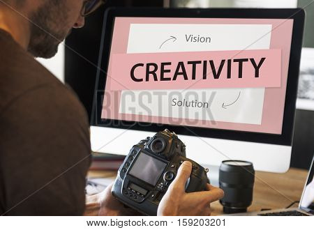 Creative Solution Business Strategy Concept