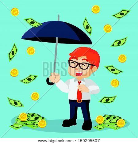 businessmen happy because it was raining money