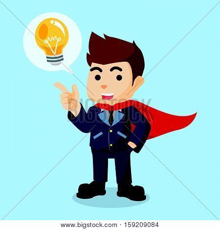 super businessman with idea callout illustration design