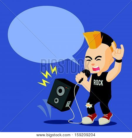rocker scream with callout eps10 vector illustration design