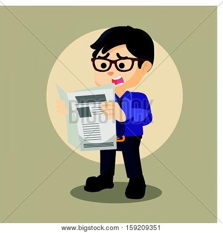 businessman bad news eps10 vector illustration design