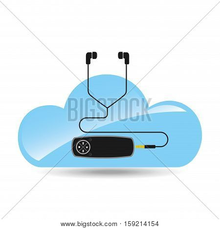 cloud music concept mp3 technology vector illustration eps 10