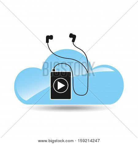 cloud music concept player mp3 vector illustration eps 10