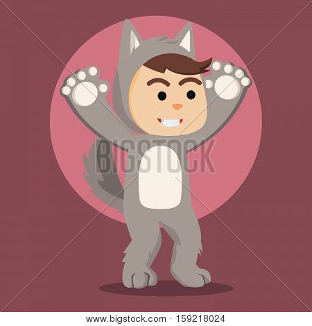 werewolf guy cartoon eps10 vector illustration design