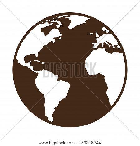 world planet earth map vector illustration design