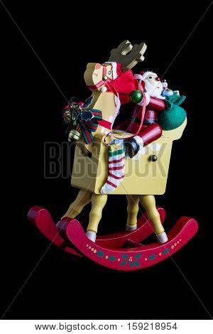 Christmas Decoration: Isolated Rocking Santas