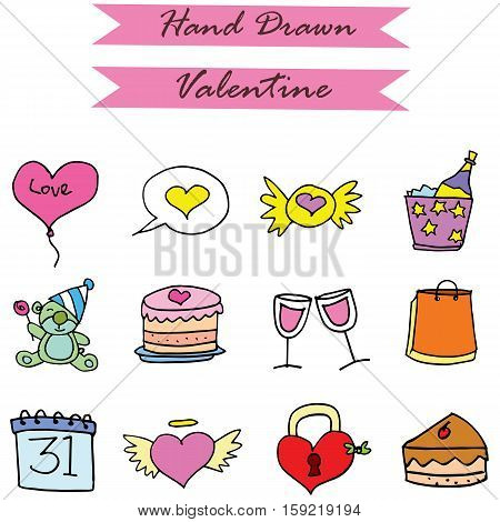 Element valentine vector art collection stock illustration