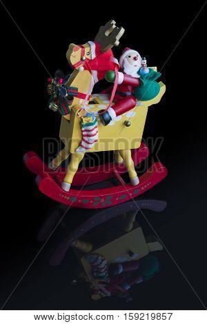 Christmas Decoration: Rocking Santa Reflected