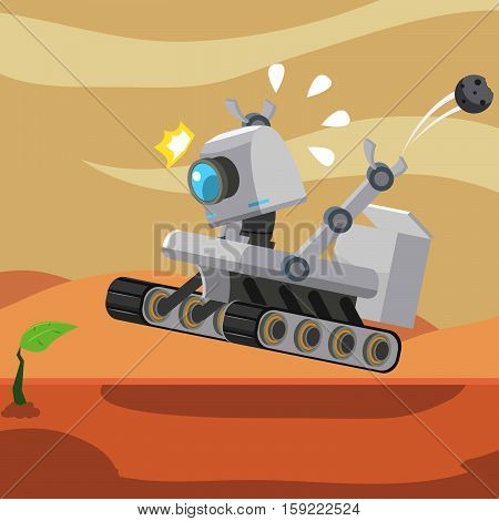 hover robot found a plant on mars