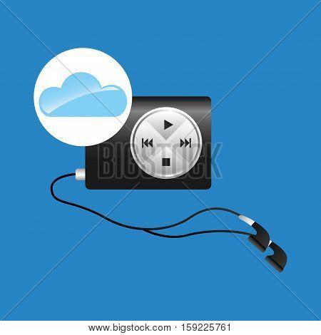 cloud music concept mp3 vector illustration eps 10