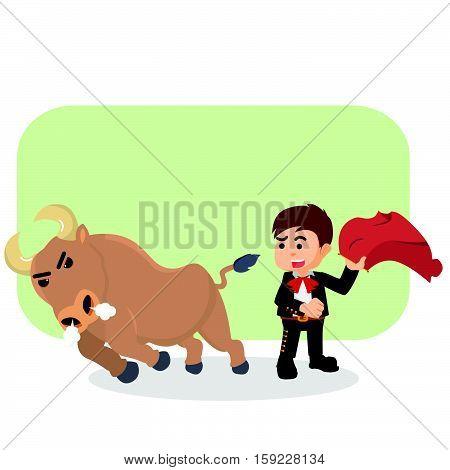 matador with bull eps10 vector illustration design