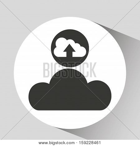 upload cloud sound graphic vector illustration eps 10