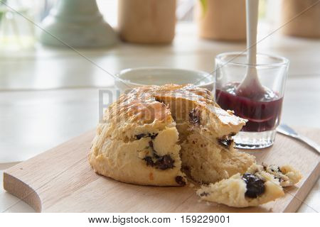 Chocolate Scones Or Fruit Scone