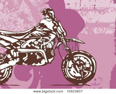 Motorcycle Grunge Background Series.