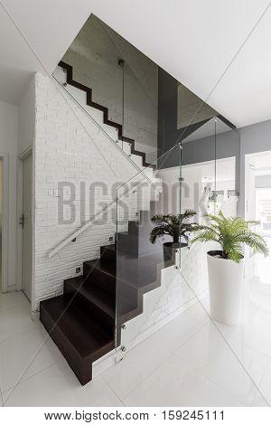 Corridor With Elegant Stair