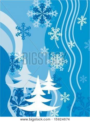 Winter achtergrond serie.