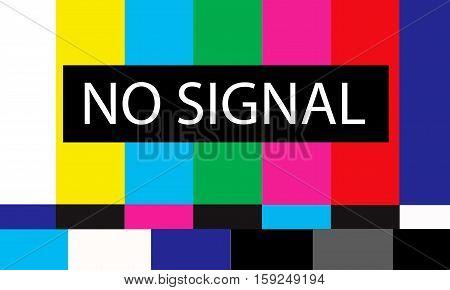 colored tv no signal design illustration